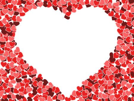 multitude: Fondo de corazones - d�a de San Valent�n de ilustraci�n. Tarjeta de amor con copyspace.