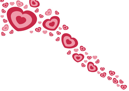 multitude: Love and romance. Hearts isolated on white - Valentines day illustration.