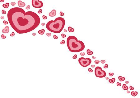 Amore e romanticismo. Cuori isolata on white - illustrazione di Valentino.