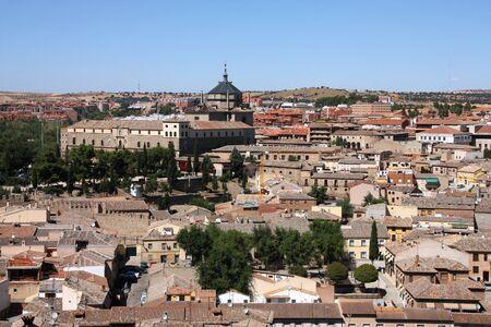 toledo town: Skyline of old town Toledo, Spain. Spanish city. Stock Photo