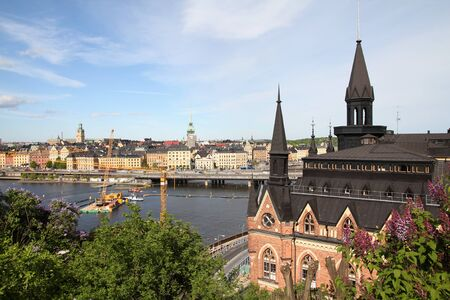 Stockholm, Sweden - building on the right is famous thanks to Millennium novels. Gamla Stan in the background. Stock Photo - 8433050