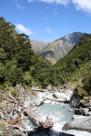 New Zealand - mountains in Mount Aspiring National Park Stock Photo - 8473581