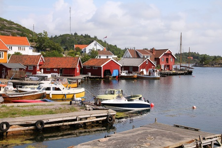 kristiansand: Norway - Skjernoy island in the region of Vest-Agder. Small fishing town - Farestad.