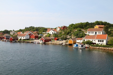 Norway - Skjernoy island in the region of Vest-Agder. Small fishing town - Farestad. photo