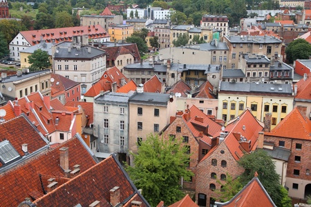 torun: Poland - Torun aerial view.