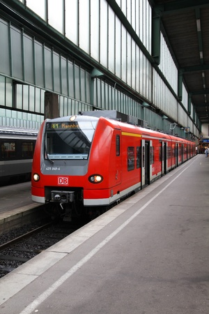 bombardier: STUTTGART - JULY 24: Deutsche Bahn Regio train class 425 on July 24, 2010 in Stuttgart, Germany. DB took over Arriva Plc company in August 2010. Class 425 train was manufactured by Siemens, Bombardier and DWA. Editorial