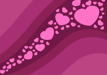 Love and romance. Hearts - Valentine's day illustration. Stock Vector - 8596187