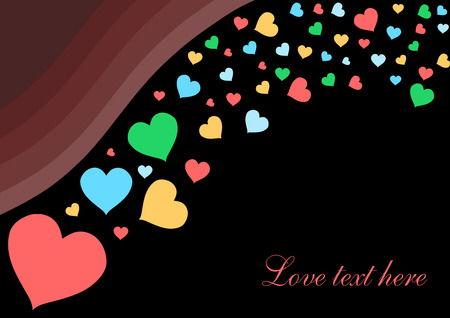 Love and romance. Hearts - Valentines day illustration. Vector