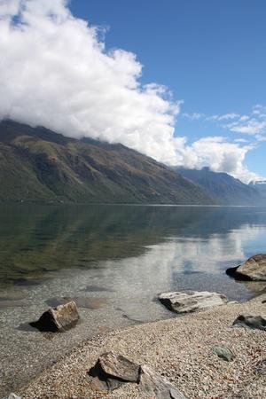 Lake Wakatipu - beautiful travel destination in Otago, New Zealand photo