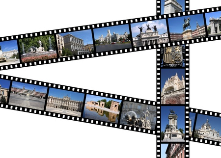 Madrid, Spain. Illustration - film strips with travel memories. All photos taken by me, available also separately. illustration