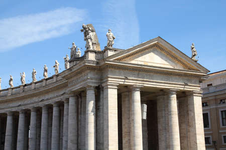 Vatican - Saint statues in the colonnade of famous Saint Peter's Square Stock Photo - 8688872