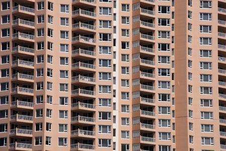 highriser: Architecture background - generic apartment building in Gold Coast, Australia Stock Photo