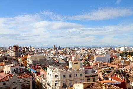 valencia: Valencia, Spain. Skyline of the old town. Stock Photo