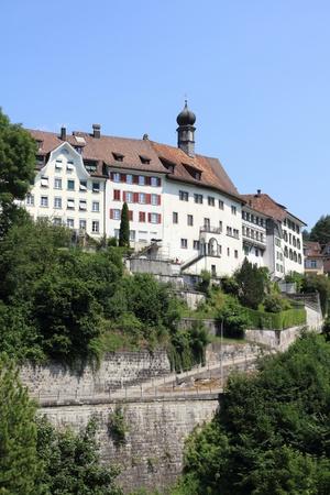 st gallen: Lichtensteig - beautiful old town in Canton of St. Gallen, Switzerland Stock Photo