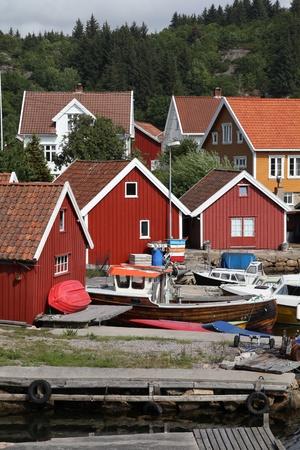 kristiansand: Norway - Skjernoy island in the region of Vest-Agder. Small fishing town - Farestad.
