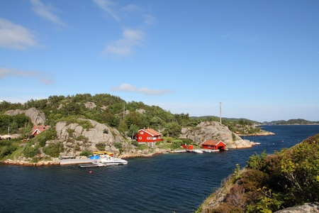 kristiansand: Norway - Skjernoy island in the region of Vest-Agder. Small fishing town.