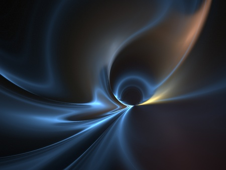 smoothness: Graphics texture. Computer rendered background. 3D fractal. Blue wave abstract.