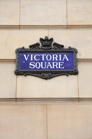 Birmingham - Victoria Square sign. West Midlands, England. photo