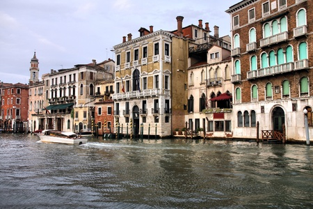 Famous Canal Grande in Venice, Italy. UNESCO World Heritage Site. photo