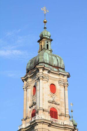 st  gallen: Abad�a de St. Gallen en Suiza - patrimonio de la humanidad por la UNESCO Foto de archivo