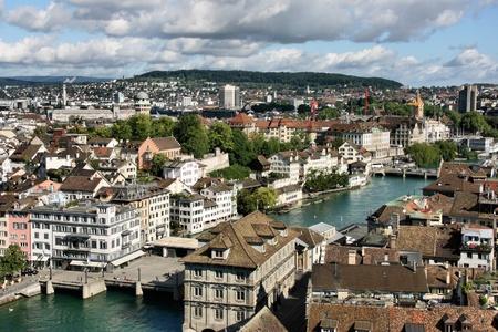 zurich: Zurich, Switzerland - cityscape of beautiful old town