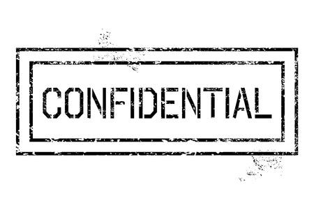 governmental: Sello de goma - grungy ilustraci�n con texto confidencial. Gobierno secreto estampado.