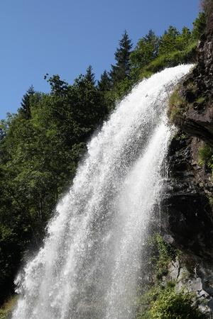 Norway, Hordaland county. Famous Steinsdalsfossen waterfall. Scandinavian nature. Stock Photo - 9523242