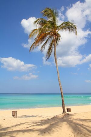 Cuba - Caribbean beach Playa Megano in Playas del Este part of Havana Province. Sandy coast. Stock Photo - 9523243