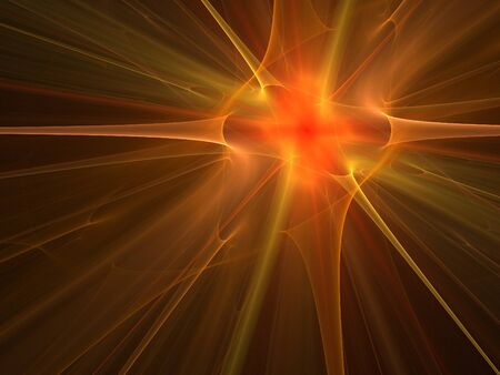blast: Graphics texture. Computer rendered background. 3D fractal. Explosion and fire. Stock Photo