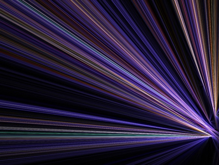 Graphics texture. Computer rendered background. 3D fractal. Night city street - speed motion blur abstract. photo