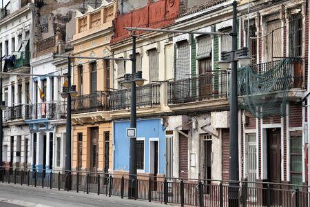 valencia: Valencia, Spain - Mediterranean architecture. City street view.