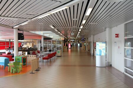fueled: MALMO - MARCH 12: Airport interior on March 12, 2011 in Malmo, Sweden. With 1.6 million passengers for year 2010 it is the 5th busiest airport in Sweden. Its rapid growth is fueled by low cost airline Wizzair.