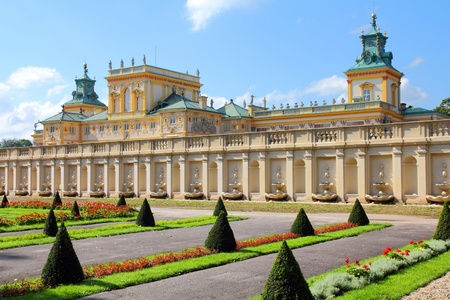 warsaw: Warsaw, Poland. Famous Wilanow palace and gardens.