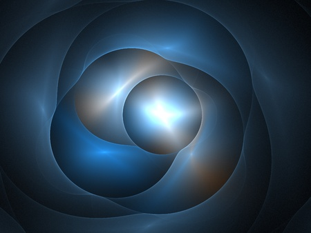Graphics texture. Computer rendered background. 3D fractal. Smooth blue waves. Stock Photo - 9750953