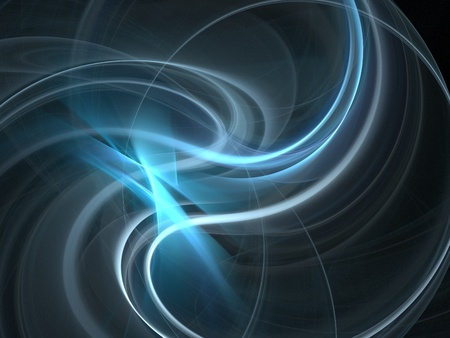 smoothness: Graphics texture. Computer rendered background. 3D fractal. Smooth blue waves. Stock Photo