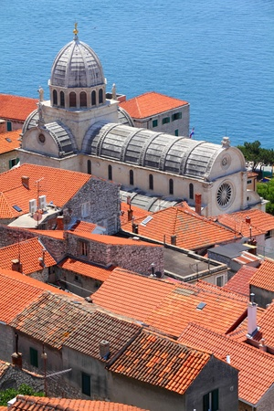 Далмация: Croatia - Sibenik in Dalmatia Cathedral church  Фото со стока