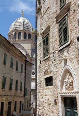 Croatia - Sibenik in Dalmatia,Cathedral church  photo