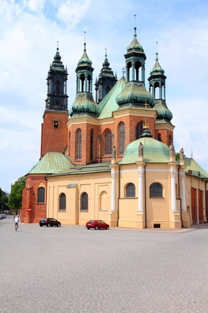 greater: Poznan, Poland - city architecture. Greater Poland province (Wielkopolska). Roman Catholic Cathedral.