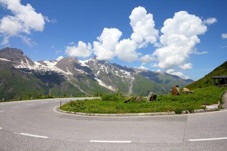 hohe tauern: Alps in Austria. Hohe Tauern National Park, Glocknergruppe range of mountains. Hochalpenstrasse - famous mountain road.
