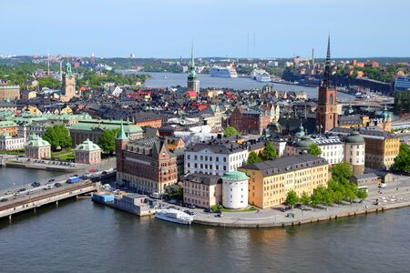Stockholm, Sweden. View of famous Gamla Stan (the Old Town), Stadsholmen island. photo