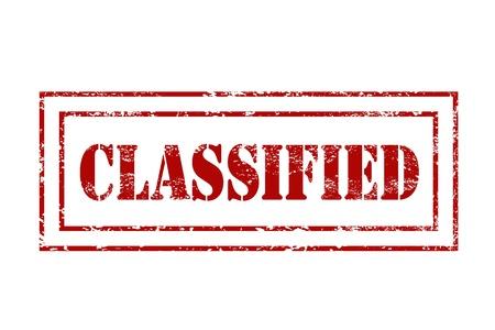Entériner rouge - illustration grungy avec texte classifiés. Gouvernement secret estampage.
