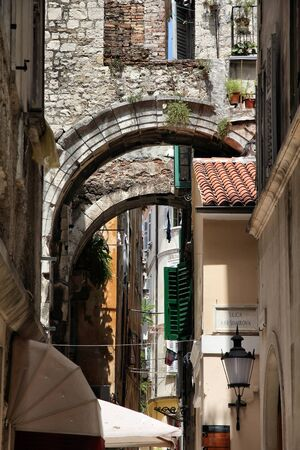Croatia - Omis in Dalmatia. Old town view. photo