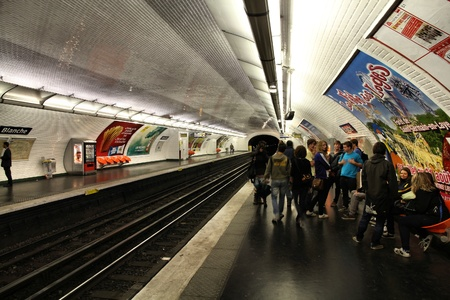PARIS - JULY 22: Paris Metro station on July 22, 2011 in Paris, France. Paris Metro is the 2nd largest underground system worldwide by number of stations (300).