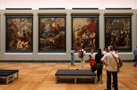 PARIS - JULY 22: Rubens paintings on July 22, 2011 in Louvre Museum, Paris, France. With 8,5m annual visitors, Louvre is consistently the most visited museum worldwide.