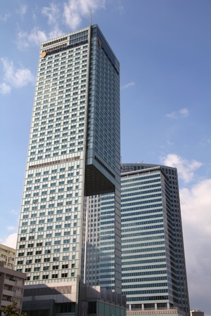 company building: WARSAW - SEPTEMBER 8: Hotel Intercontinental on September 8, 2010 in Warsaw, Poland. With height of 154m, its the 4th tallest building in Poland. Swimming pool on 44th floor is the highest indoor pool in Europe.