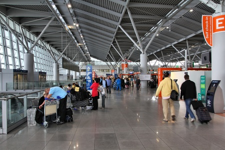 WARSAW - AUGUST 31: Departures area on August 31, 2010 at Warsaw Chopin airport, Poland. With 8.7m pax for 2010, it is the busiest airport in Poland. Stock Photo - 10581379