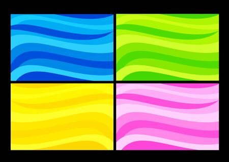 Colorful waves - set of background abstracts. Color illustration. Stock Vector - 10600708