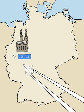 Cartina Muta Delle Alpi.Vettoriale Visita Stoccarda Cartina Muta Della Germania E Un Aereo Con Scie Citta Simbolo Concetto Di Viaggio Image 10169605