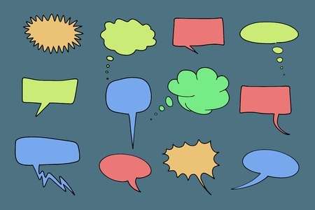 Communication speech bubbles set. Chat and thought illustration collection. Stock Vector - 10600676