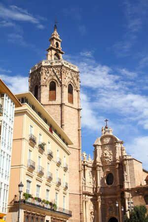 Valencia, Spain. Cityscape with famous Cathedral. Stock Photo - 10639872